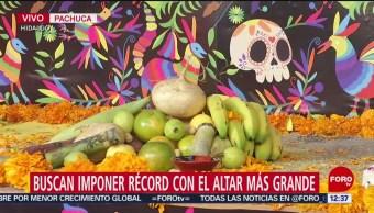 FOTO:Pachuca busca récord por altar de Día de Muertos, 1 noviembre 2019