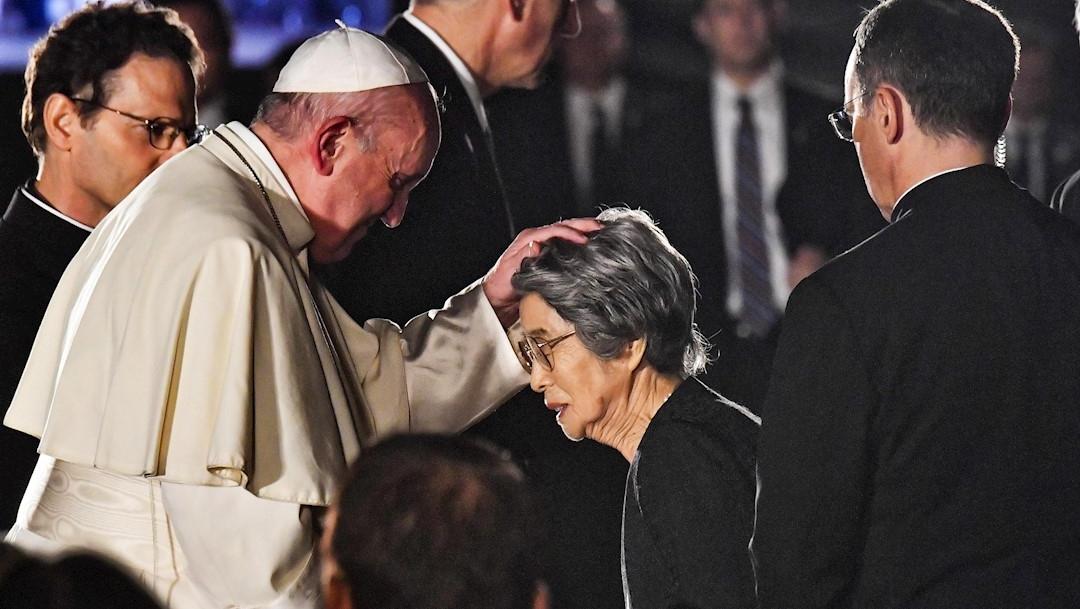 Foto: El papa Francisco se reúne con víctimas de la bomba atómica en Hiroshima, Japón, 24 noviembre 2019