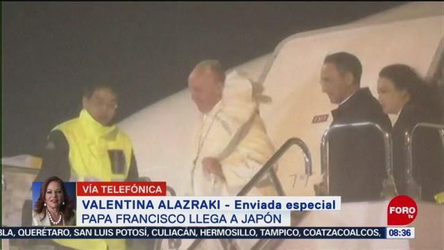 FOTO: Papa Francisco llega Japón