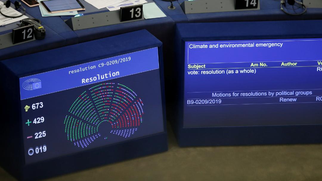 FOTO Parlamento Europeo declara emergencia climática y ambiental (Reuters)