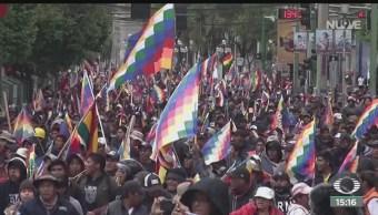 FOTO: Partidarios Evo Morales no pudieron ingresar Congreso Bolivia