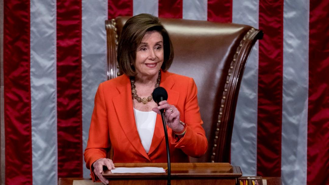 Foto: Presidenta de la Cámara Baja, la demócrata NancyPelosi