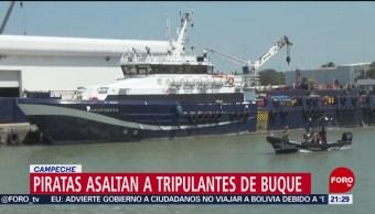FOTO: Piratas asaltan barco italiano en Campeche, 12 noviembre 2019