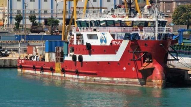 Foto: El barco se encuentra ahora en el puerto de Ciudad del Carmen, en Campeche, 12 de noviembre de 2019 (Twitter @LiberoReporter)
