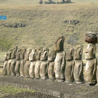 Por el Planeta: Plataforma ceremonial en Rapa Nui