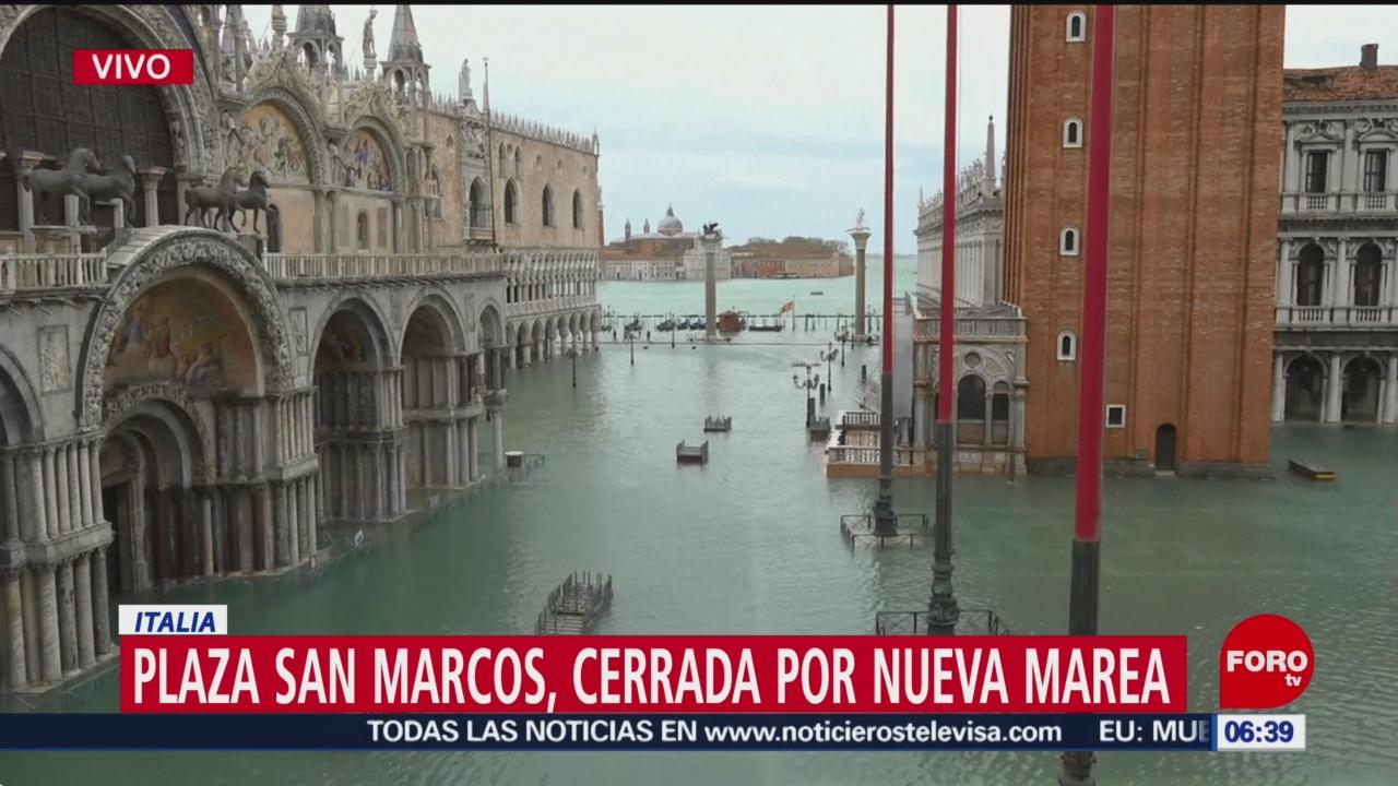 Plaza de San Marcos de Venecia sigue cerrada por inundaciones - Noticieros Televisa