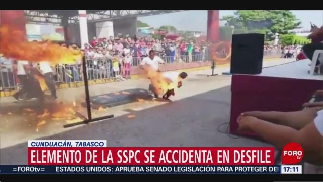FOTO: Video Policía Tabasco Se Quema Por Acrobacia Fallida