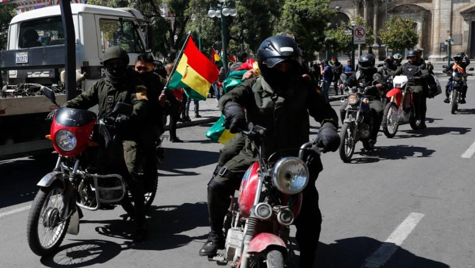 Foto: Policías marcharon contra el gobierno del presidente Evo Morales, 9 noviembre 2019 2019