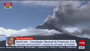 FOTO: Popocatépetl presenta intensa actividad volcánica, 9 noviembre 2019