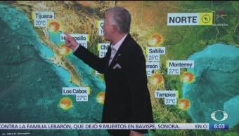 Prevén escaso potencial de lluvias en noreste, oriente y sureste de México