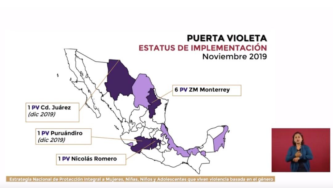 Foto: Gobierno AMLO presenta estrategia contra violencia hacia las mujeres, 25 de noviembre de 2019