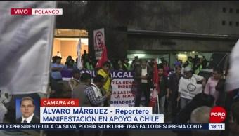 FOTO: Protestan Apoyo Chile CDMX,