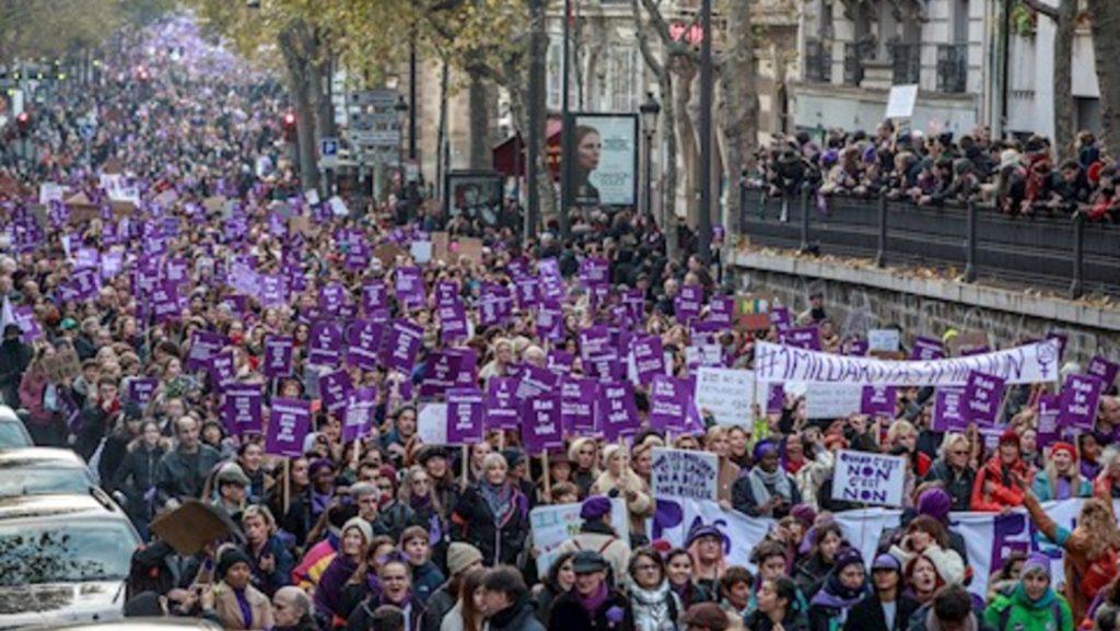 Foto: Decenas de miles de personas se manifestaron en Francia contra la violencia machista, 23 noviembre 2019
