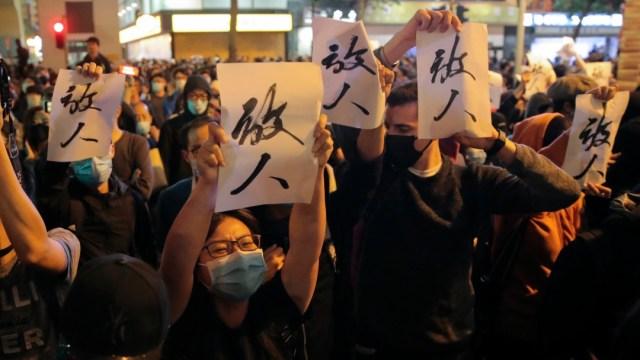 Foto: Jefa del Ejecutivo de Hong Kong admite derrota electoral