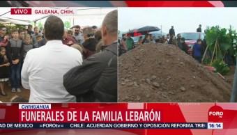 FOTO: Realizan funerales familia LeBarón Chihuahua