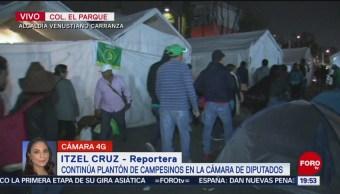 Foto: Campesinos Regresan Campamento Cámara Diputados 20 Noviembre 2019