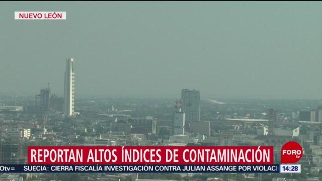 FOTO:Reportan altos índices de contaminación en Nuevo León, 19 noviembre 2019