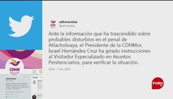 Foto: Reportan Movilización Policiaca Inmediaciones Penal Atlacholoaya 7 Noviembre 2019