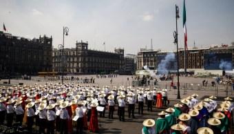 Representación de la Revolución Mexicana en el Zócalo