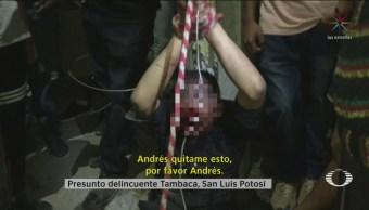 Foto: Rescatan Sujeto Linchado Apuñalar Sacerdote Tambacaca 4 Noviembre 2019