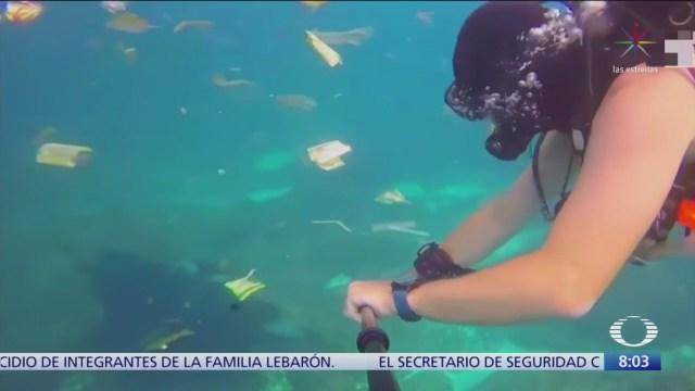 Residuos plásticos afectan mar y peces