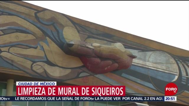 Foto: Restauración Mural Siqueiros Dañado Cu 22 Noviembre 2019