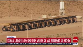 FOTO: Roban 47 lingotes oro Sonora