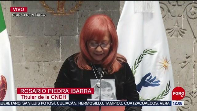 Rosario Piedra Ibarra anuncia reforma a la CNDH