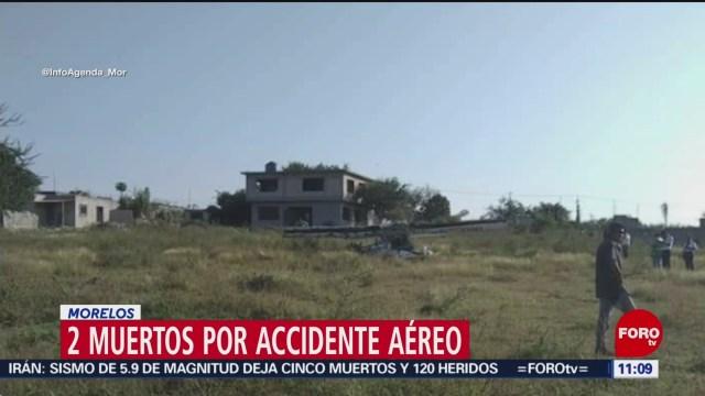 Se desploma avioneta en Temixco, Morelos; mueren dos personas