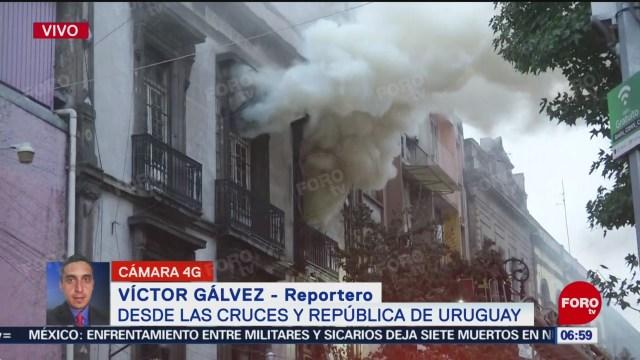Foto: Se incendian bodegas calles Centro Histórico CDMX