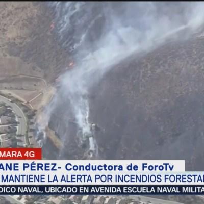 Se mantiene la alerta por incendios en California