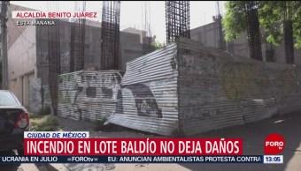 FOTO: Se registra incendio en lote baldío de la Benito Juárez, 10 noviembre 2019