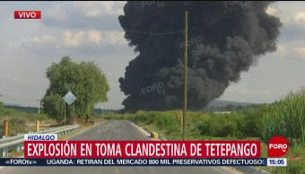 FOTO: Video Incendio Toma Clandestina Hidalgo