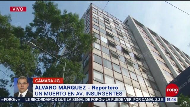 FOTO: Se suicida hombre edificio Insurgentes Sur