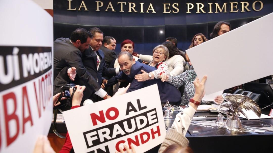 Foto: Militantes de PAN y PRI insisten en que recurrirán ante tribunales para exigir la reposición del procedimiento