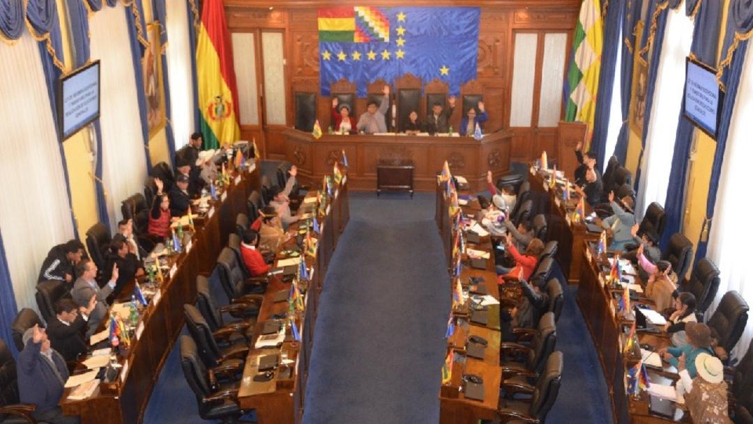 Foto: En Bolivia el Senado aprobó el proyecto de ley de convocatoria a nuevas elecciones, 23 noviembre 2019