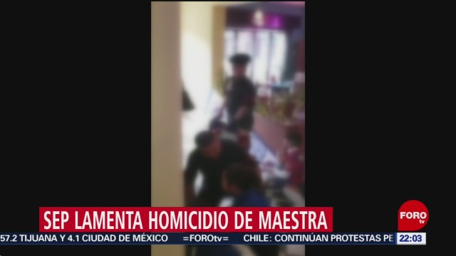 FOTO: SEP lamenta asesinato de maestra en Torreón, 17 noviembre 2019
