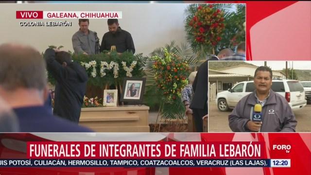 FOTO: Sepultan a integrantes de la familia Lebarón, 9 noviembre 2019