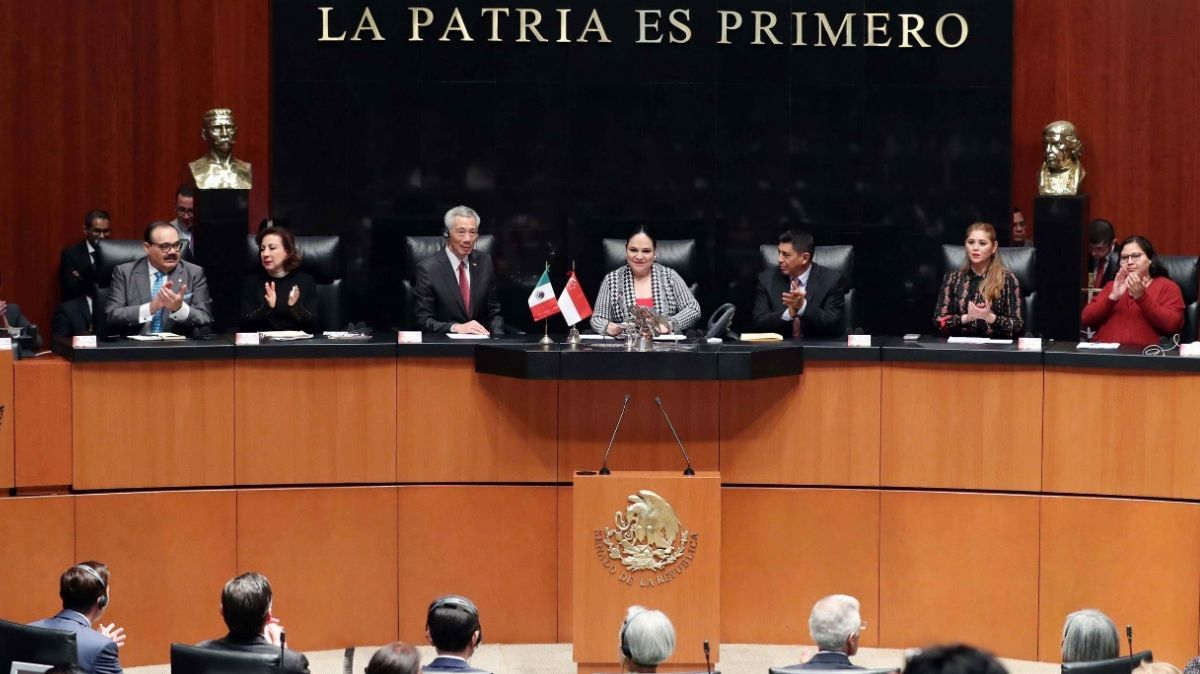 Senado recibe en sesión solemne a primer ministro de Singapur
