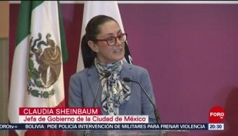 FOTO: Sheinbaum asegura que no está satisfecha en materia de seguridad, 11 noviembre 2019