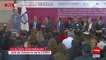 Sheinbaum encabeza reunión sobre seguridad pública y municipal