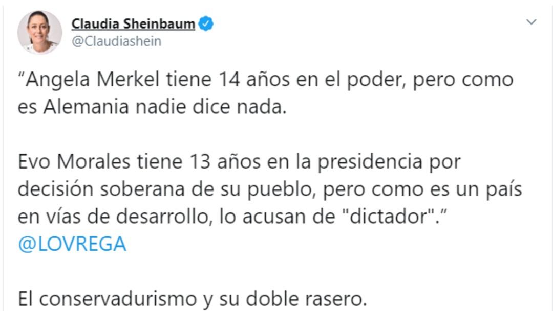 Foto: Sheinbaum: Merkel tiene 14 años en el poder y nadie dice nada, 10 de noviembre de 2019