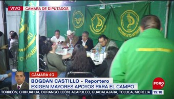 Foto: Campesinos Sumarán Plantón Cámara Diputados 19 Noviembre 2019