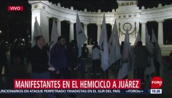 FOTO: Simpatizantes Evo Morales se manifiestan Hemiciclo Juárez