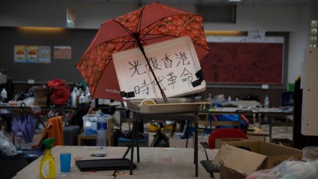 Sin rastro de activistas amotinados en universidad de Hong Kong