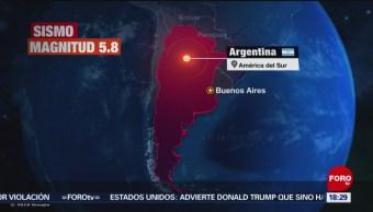 Foto: Sismo Magnitud 5.8 Argentina 19 Noviembre 2019