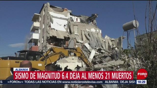 FOTO: Sismo Albania deja menos 21 muertos