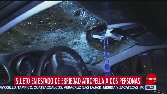 FOTO: Sujeto en estado de ebriedad atropella a dos personas en CDMX, 24 noviembre 2019