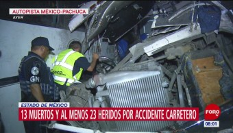 Foto: Suman 13 muertos por choque múltiple autopista México-Pachuca
