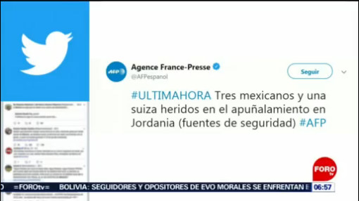 Tres mexicanos heridos por apuñalamiento en Jordania, según AFP